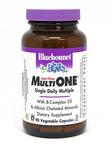Bluebonnet Multi One Iron Free Vegetable Capsules, 90 Count (Iron 90 Vegetable Capsules)