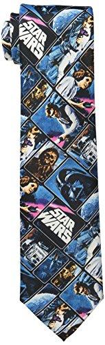 Star Wars Men's Vintage Poster Tie, Blue, One Size