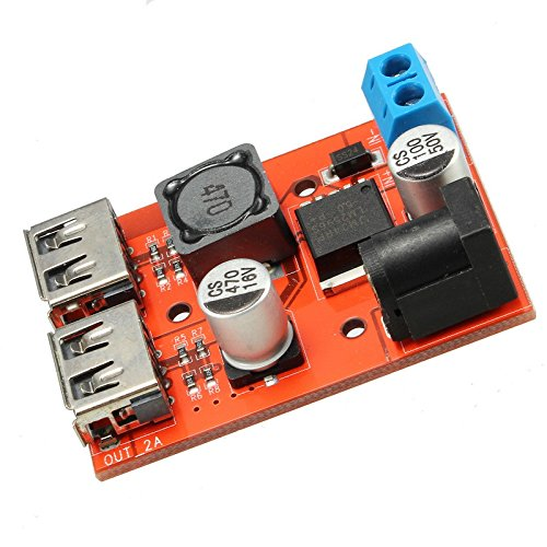 Quickbuying DC-DC 9V/12V/24V/36V To 5V Dual USB Power Supply Module Vehicle Charging Solar 3A Voltage Regulator Board