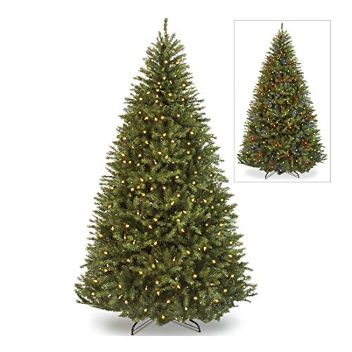 Árbol de Navidad artificial con bisagras y soporte, 700 m, color verde