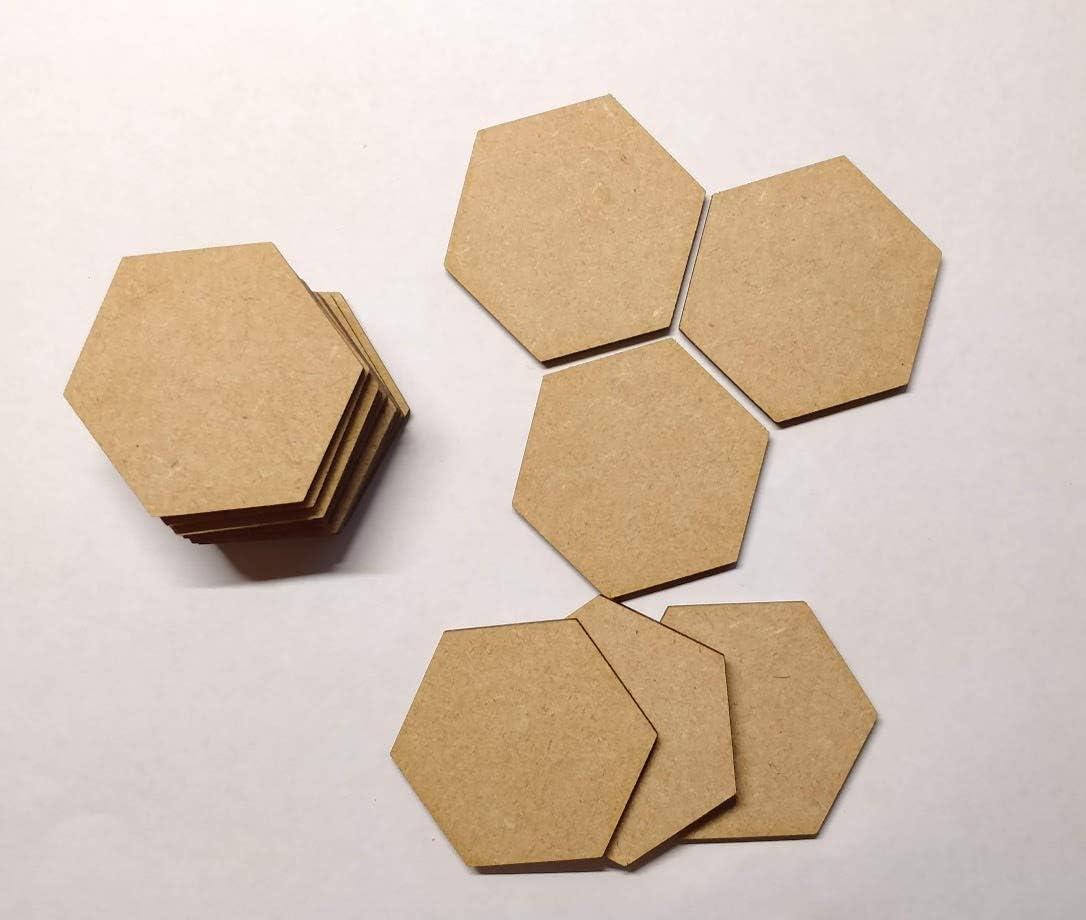 5 unidades de 150 mm 15 cm Base hexagonal de madera para manualidades