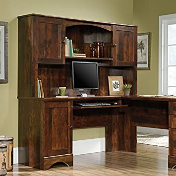 sauder harbor view hutch does not include desk in curado cherry - Sauder Harbor View