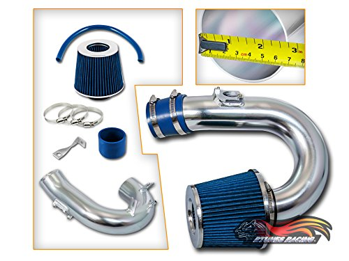 Rtunes Racing Ram Air Intake Black / Red / Blue Filter Kit For 2000-2005 Toyota Celica GT 1.8L VVT-i L4 (Blue) (Celica Gt Short Ram Intake)