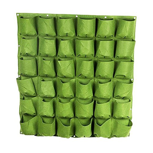 S&F Wall Planter Wall Hanging Planter Garden Grow Bags (36 Pocket) by Steve Life story store