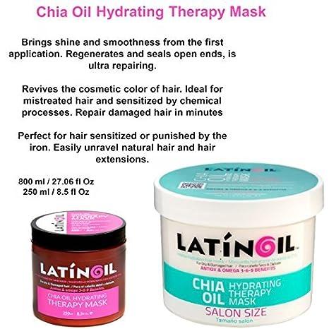 Amazon.com: latinoil Aceite de Chia Hidratación Terapia ...