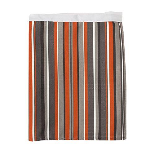 Sweet Potato Echo Twin Bed Skirts, Tangerine/Orange/Ivory/Cream/Stone/Grey/Taupe/Brown/Chocolate