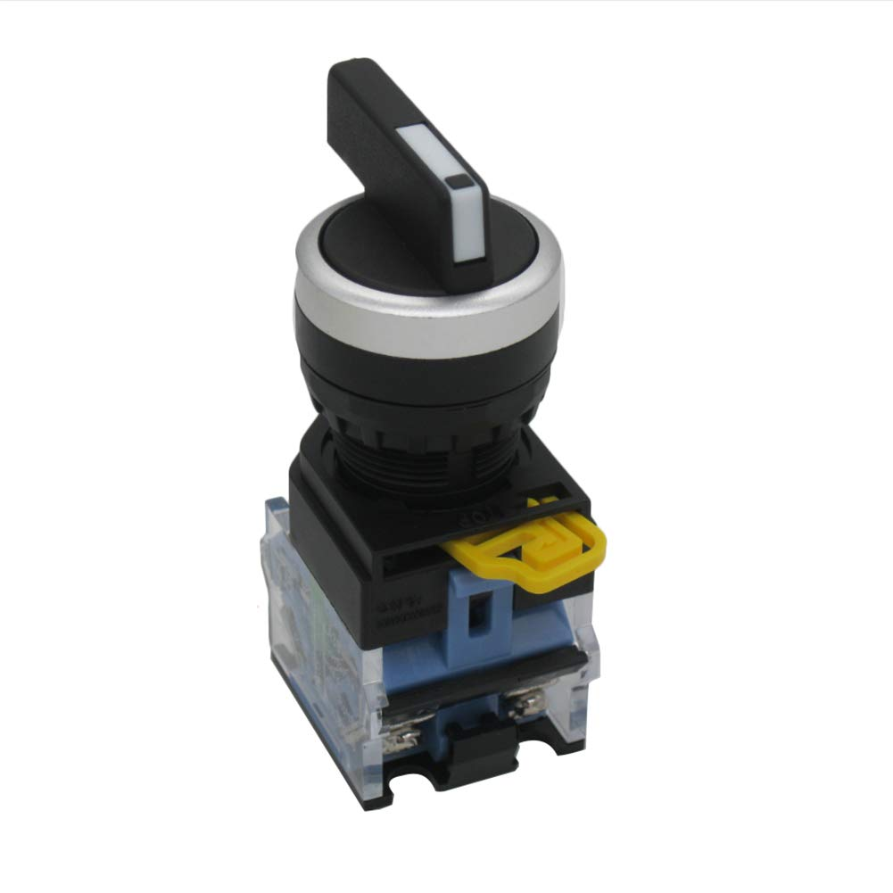 Taiss / 22mm 2 NO Latching Maintained Three 3-Position Rotary Selector Select Switch 440V 10A(Warranty 3 Years) LA38A-20X31C