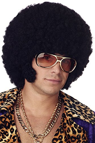 [California Costumes Men's Afro Chops Wig,Black,One Size] (Halloween Costumes Afro Wig)