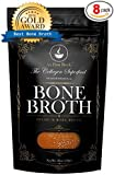 Healthy Bone Broth - Organic, Grassfed (Delicious Beef/Chicken/Turkey Blend) Frozen 32oz Bags, 8 Count (30 day supply/1 cup per day) Soup Broth Not Powder,, Slow Simmered, Pasture Raised, Non-GMO
