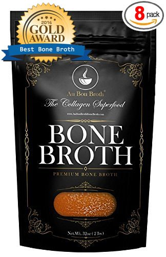 Marrow Bone Soup (Healthy Bone Broth - Organic, Grassfed (Delicious Beef/Chicken/Turkey Blend) Frozen 32oz Bags, 8 Count (30 day supply/1 cup per day) Soup Broth Not Powder,, Slow Simmered, Pasture Raised, Non-GMO)