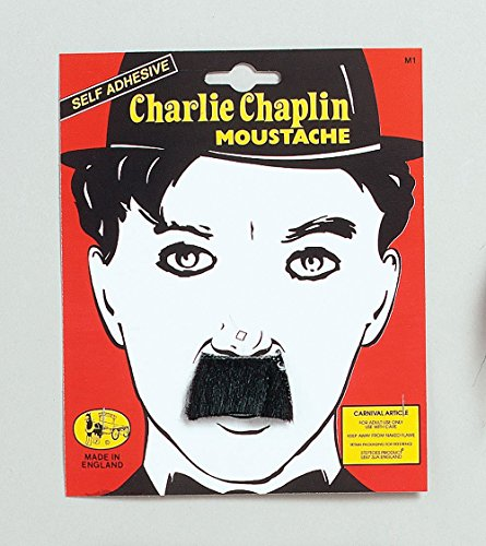 Black Charlie Chaplin Moustache Fancy Dress ()
