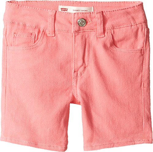 Levi's Kids Baby Girl's Summer Love Midi Short (Toddler) Strawberry Pink Shorts by Levi's