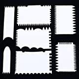 Bestsupplier 7 Pcs/set Cake Edge Decorating Tool Scrappers Cutters Smoother Tool Set