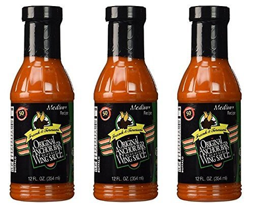 Anchor Bar Sauce Wing Original 12 oz (Pack of 3) (Sauce Tigers Wing)