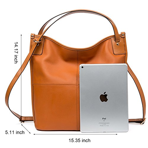 Hobo Tote handle Top Handbags Women Bag 3 Sale Leather Purse BOSTANTEN brown Shoulder on qySEI4g
