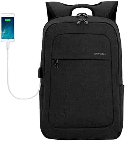 KOPACK Lightweight Laptop Backpack USB Port Water Resistant 15.6 Inch Business Slim Back Pack Travel Bag