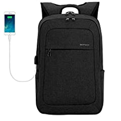 The Kopack Black business laptop backpack with laptop compartment for up to 15 15.4 15.6 inch screens offering an array of impressive features for staying organized and keeping items accessible and secure.    Material:  Waterproof and tear-r...