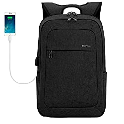 KOPACK Slim Business Laptop Backpacks Anti Thief Tear Water Resistant Travel Bag Macbook Computer Backpack 2Size 15.6/17Inch