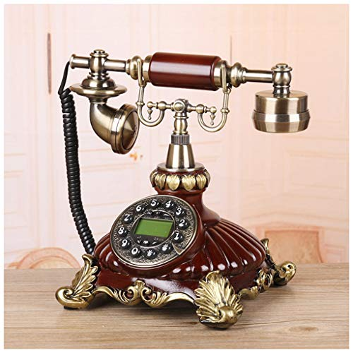 SMC Living Room Brown Resin Patch Phone Home Decoration Ornaments Craft Fixed Phone Wedding Gift Hands-Free Caller ID from SMC Telephone