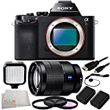 Sony Alpha a7R Mirrorless Digital Camera + Sony Vario-Tessar T* FE 24-70mm f/4 ZA OSS Lens + 9 Piece Essentials Bundle Kit
