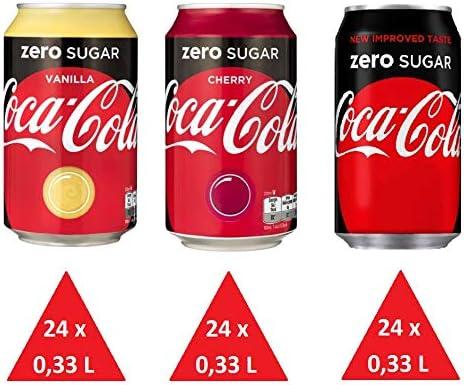72 x Coca Cola Zero cans, dosen, canettes, latas, lattine 0,33 L ...
