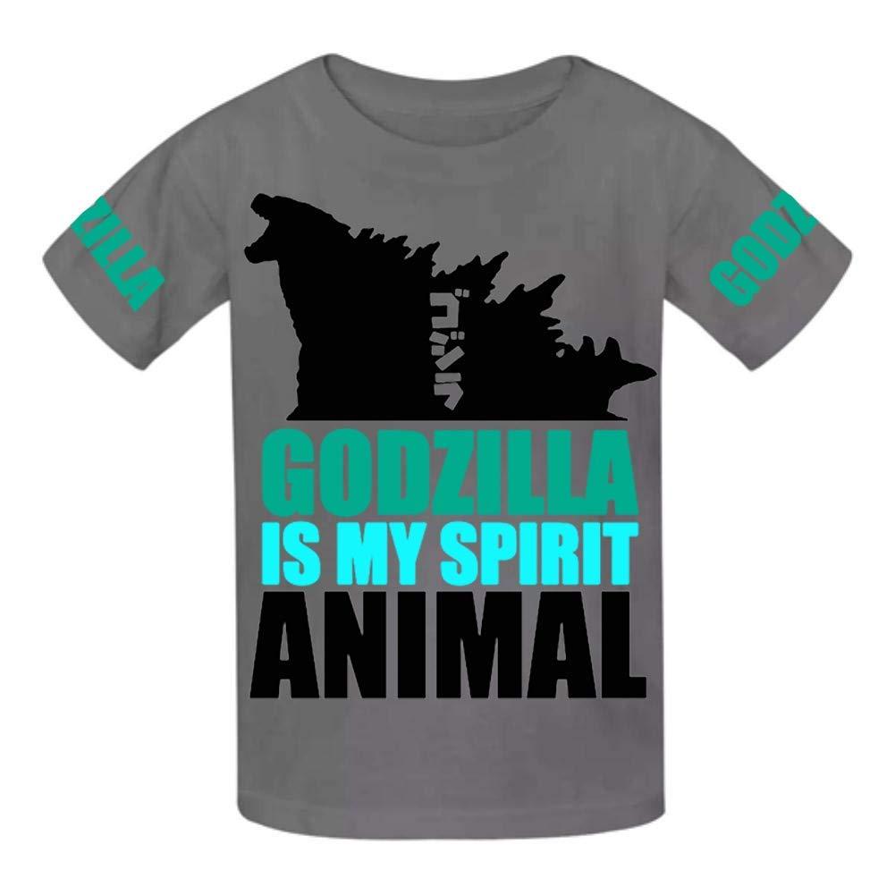 VOPSKJ14 Godzilla is My Spirit Animal Youth Cotton T-Shirts Unisex Child Short Sleeve Tee Shirt