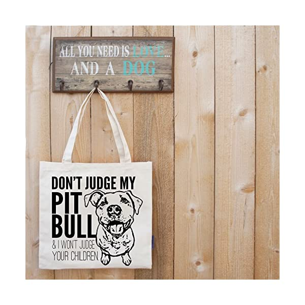 Don't Judge My Dog Tote Bag by Pet Studio Art 7
