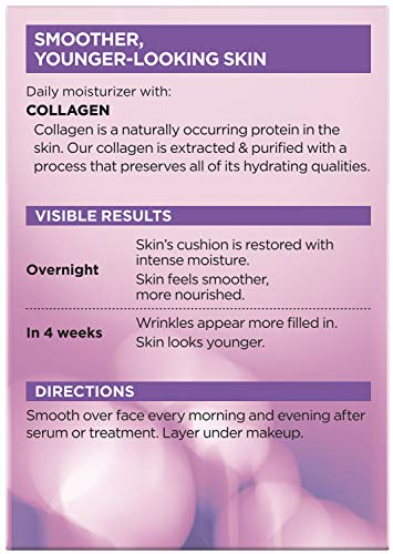 51CX8cyAuzL - Collagen Face Moisturizer by L'Oreal Paris Skin Care I Day and Night Cream I Anti-Aging Face Cream to Smooth Wrinkles I Non-Greasy I 3.4 Ounce (Pack of 1)