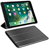 NEESI Case for iPad Pro 10.5 - Ultra Slim Lightweight Smart Case Trifold Cover Stand with Auto Sleep Wake Feature Flexible Soft PU Leather Cover for iPad Pro 10.5 inch 2017 Tablet - Black