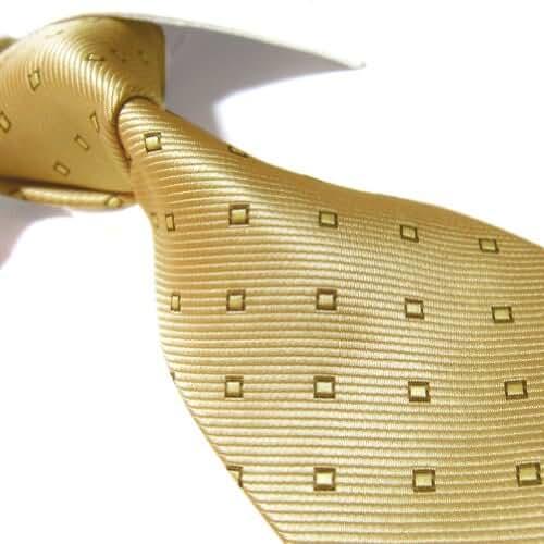 Extra Long Microfibre Tie by Towergem,Golden Polyester XL Men's Necktie 63