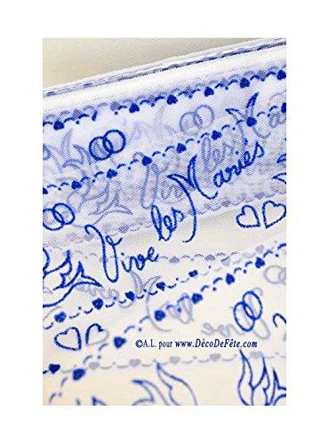 LAPLASTOSE 20M Tulle vive Les mari/és Bleu Roy