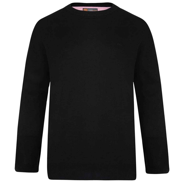 Kam Crew Neck Knitted Jumper - Black