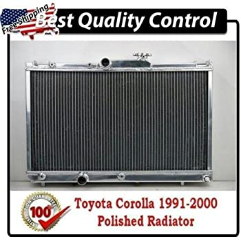 CXRacing 2-Row Aluminum Radiator For 83-88 Toyota Truck Hilux 1JZ-GTE 2JZ-GTE