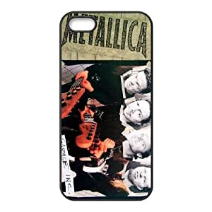 Metallica funda iPhone 5 I7X60M8DQ caso 5s funda 263J2Q negro
