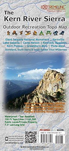 The Kern River Sierra Outdoor Recreation Topo Map
