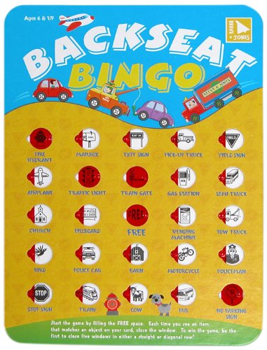 Reeve & Jones Backseat Bingo Game
