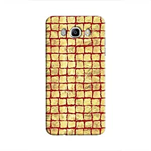 Cover It Up - Gold Red Break Mosaic Galaxy J7 2016 Hard Case