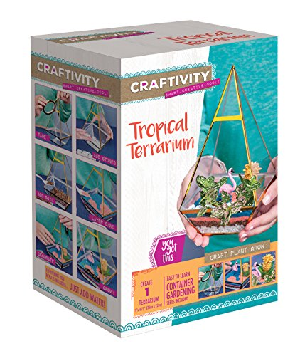 CRAFTIVITY Tropical Terrarium Kit - Craft Kits for Teens