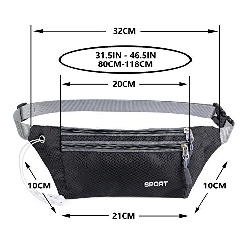 Packs Hiking Black Women Bag Waist and for for Women Hiking Men Waterproof Running Men Running Bumbags Fanny AirZyx xqzTBIB