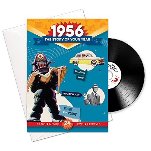Price comparison product image 1956 Birthday or Anniversary Gifts - 1956 4-In-1 Card and Gift - Story of Your Year ,  CD ,  Music Download