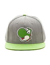 bioworld Nintendo Super Mario Bros - Yoshi Rubber Logo Snapback Boys Hat