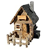 Miniature Fairy Garden Outdoor Shed with Fence