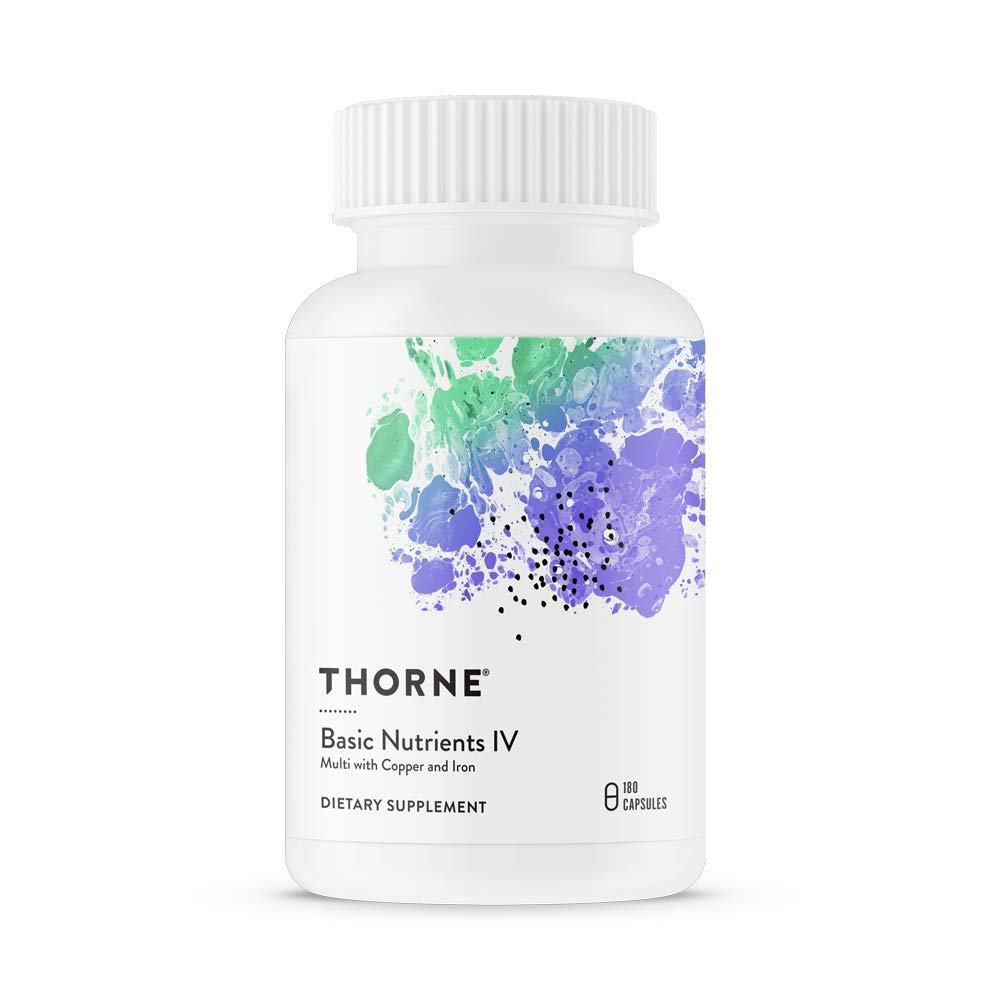 Thorne Research – Basic Nutrients IV with Copper and Iron – Multiple Vitamin-Mineral Supplement with Copper and Iron – 180 Capsules