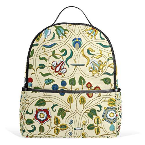 Embroidered Elizabethan Forepart Gold Silverwork Imitation Backpack for Men Women Back Pack Shoulder Bag Daypacks Teenagers's Travel bagpacks Casual Daypack for -