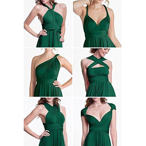 CASTLE Femme Vert Robe IBTOM Asymtrique vdP88xq