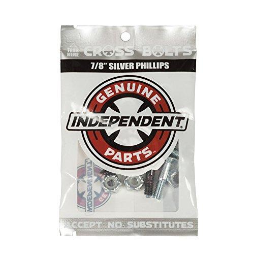 "Independent Genuine Parts Cross Bolts Standard Phillips Skateboard Hardware (Black/Silver, 7/8"")"