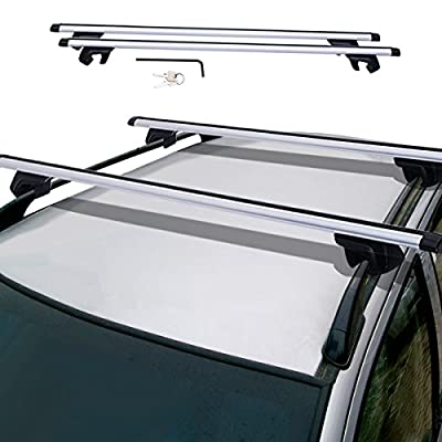 "48"" Universal Car Wagon Aluminum Roof Top Rail Rack Cross Bars Luggage Carrier"