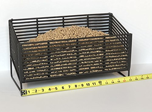 Pellet Basket, Alternative Heating Source Using Wood Pellets in Your Wood Stove or Fireplace (Wood Basket Fireplace)
