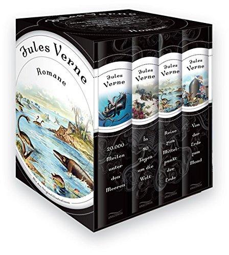 Jules Verne - Romane (Vier Bände im Schuber) - 20.000 Meilen unter den Meeren - In 80 Tagen um die Welt - Reise zum Mittelpunkt der Erde - Von der Erde zum Mond Gebundenes Buch – 30. September 2013 Anaconda Verlag 3730600397 FICTION / Classics Französische