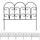 Sunnydaze 5 Piece Victorian Border Fence Set, 16 Inches x 18 Inches Wide Each Piece, 7.5 Feet Overall